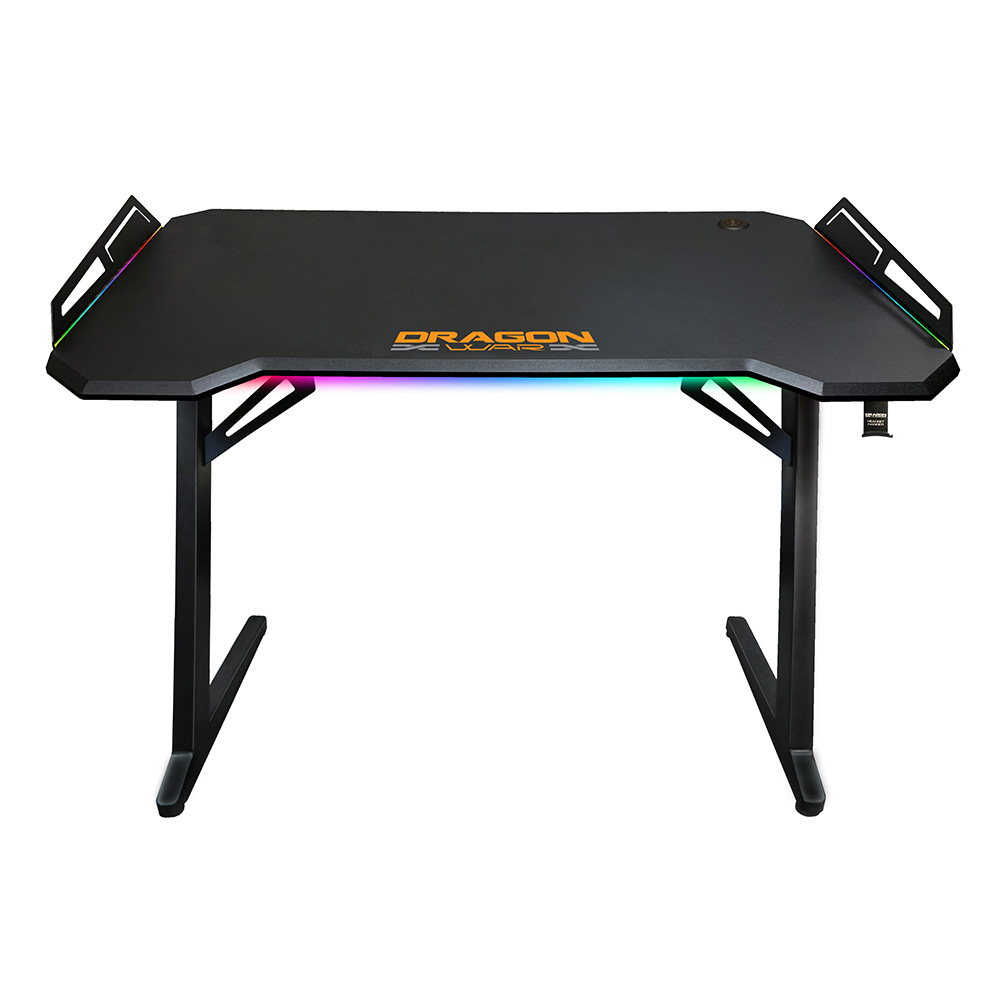 New design best sell black color USB hub RGB multi colors remote control gaming pc game desk