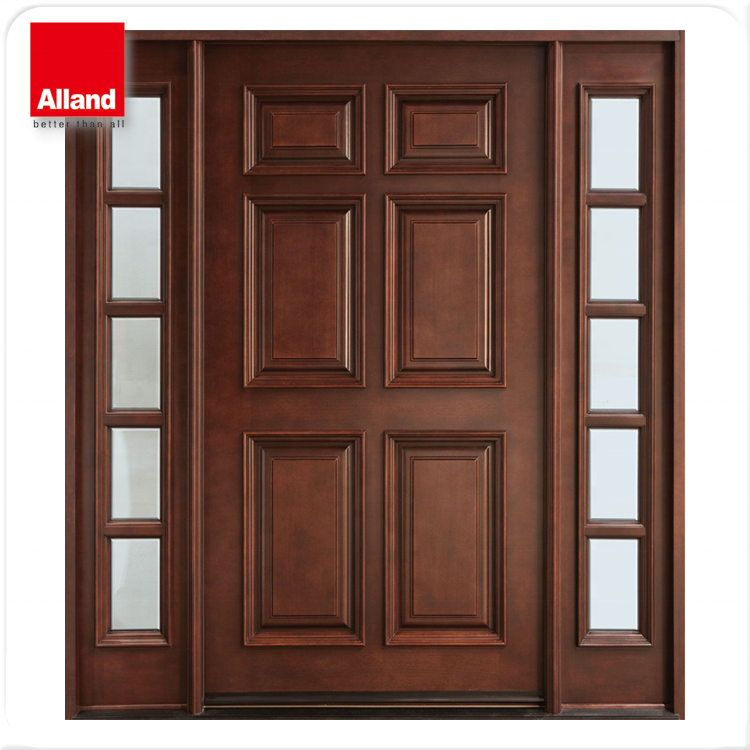 Mahogany Front Double Solid Wood Entry