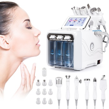 Dropshipping New 6 In 1 Water Dermabrasion Hydra Peeling Facial Waterpeel Microdermabrasion Aqua Clean Beauty Machine for Face