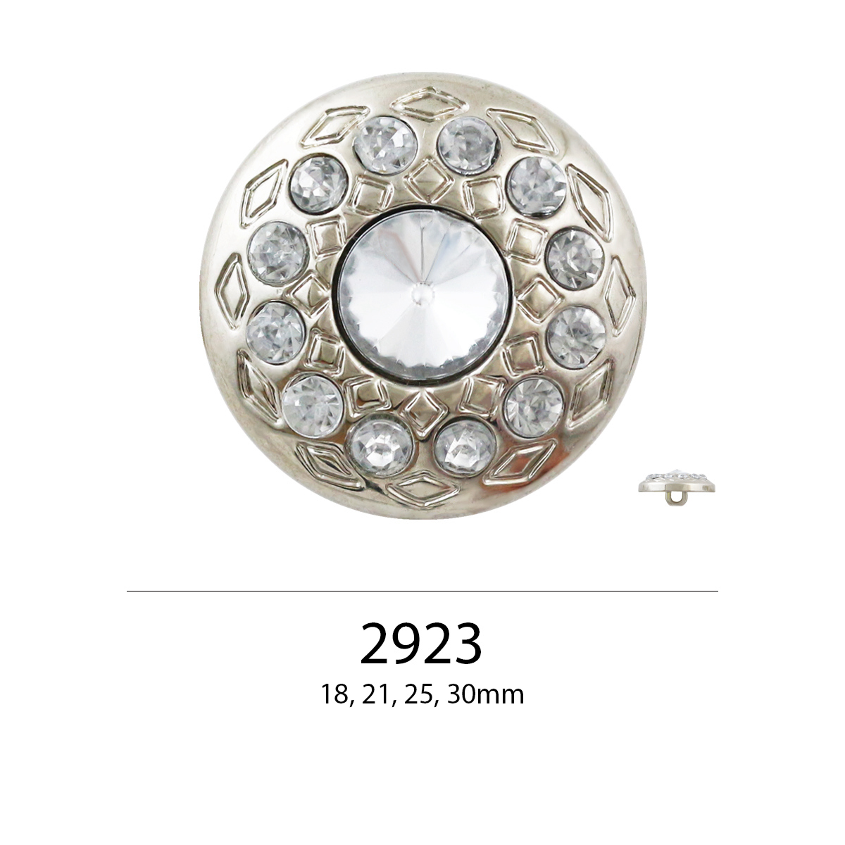 Fashion Designer Style Round Shaped Over 10 Colors 18mm 21mm 25mm 30mm Rhinestone Buttons for Wedding Dress