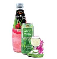 Uglobe Aloe vera Drink with Original Strawberry Lychee White grape Apple Honey Flavor
