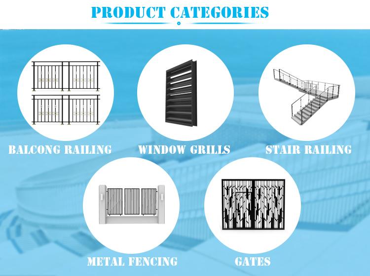 Алюминиевая решетка для забор панели и ворота алюминиевой решеткой заборы