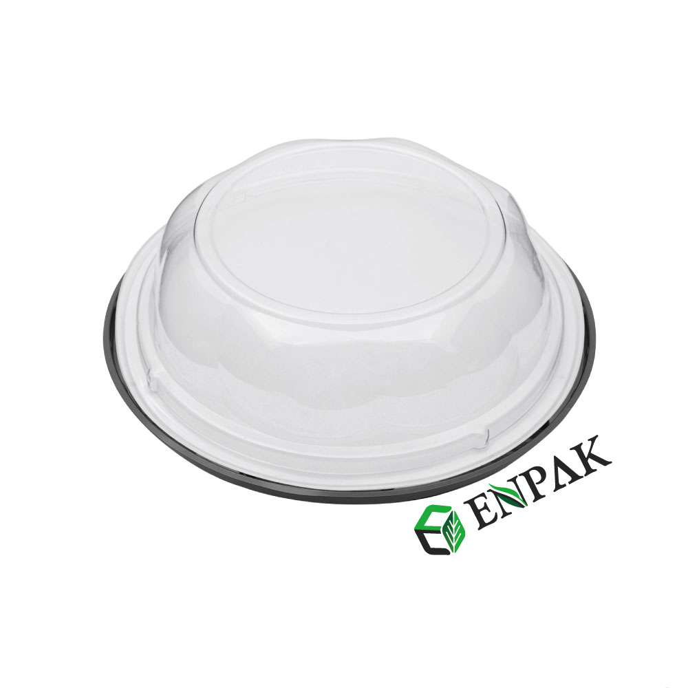 Supplies cake packaging disposable PET plastic clear cake containers