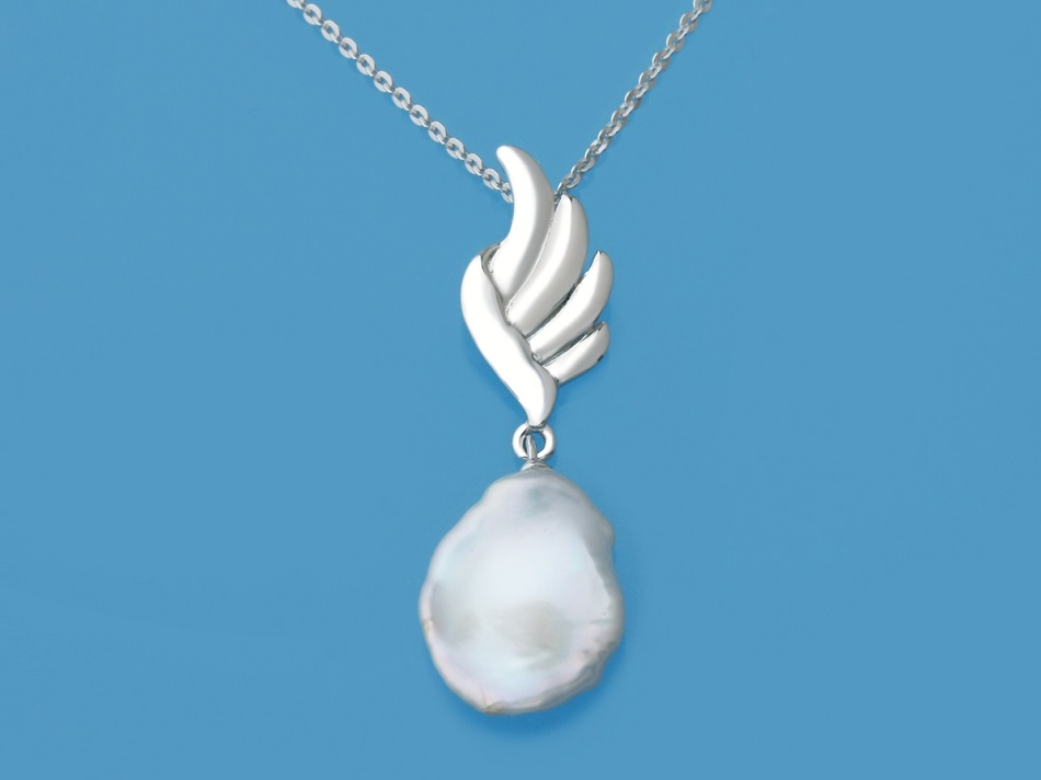 Delicate White Pearl Sterling Silver Necklace