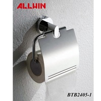 Toilet tissue paper roll holder stand with cover