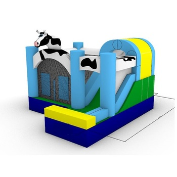 Colorful Farm Cow Theme Inflatable bouncer commercial advertising inflatables bouncy castle with slide