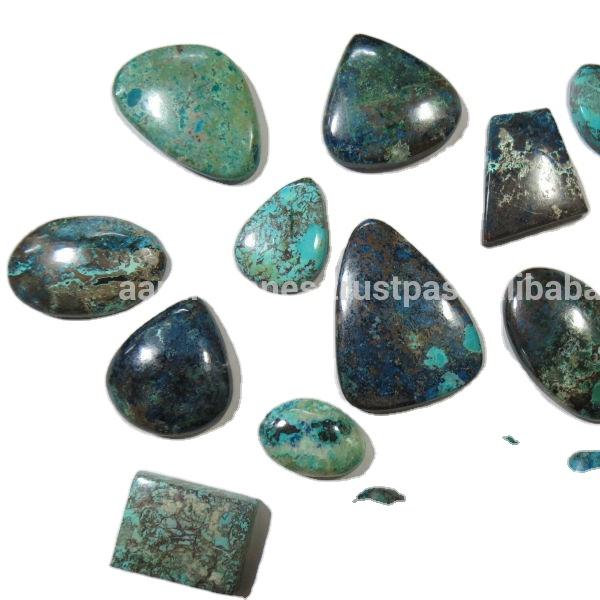 53 CTS Chrysocolla Azurite Gemstone Size 40x28x5 MM. Chrysocolla Cabochon Natural Azurite Chrysocolla Cabochon