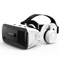 Hot Selling VR SHINECONS G06EB Virtual Reality 3D Video Glasses Suitable for 4.7 inch - 6.1 inch Smartphone with HiFi Headset