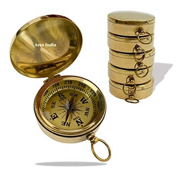 geological vintage antique nautical flip brass compass for guide camping survival hiking navigation direction sport treasure