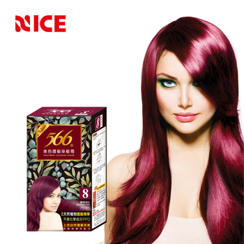 OEM Permanent Bright Red Wine Hair Dye Chemical Formula For Hair Dye