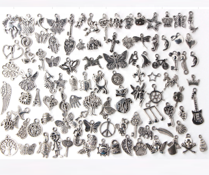 Wholesale Lot Tibetan Silver Mix Pendants <strong>Charms</strong> For Bracelet Necklace