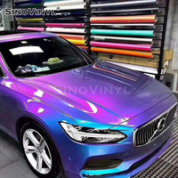 SINOVINYL Factory Price OEM Auto Decoration Chameleon Matte Glitter Wrap Vinyl For Car
