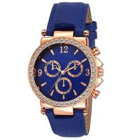 SerenaWay Analogue Blue Dial & Blue Leather Strap Quartz Movement Girls & Women's Watch