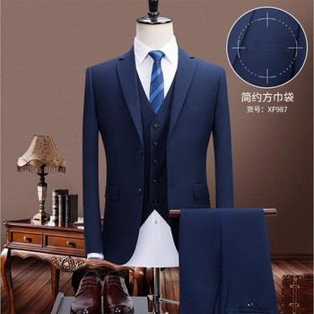 2020 Classic three piece suits design wedding business hotel office men suits