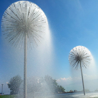Fountain Outdoor Decoration Garden Fountain Landscape Dandelion Water Fountain
