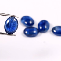High quality polished oval natural blue kyanite gemstone stones for jewelry making