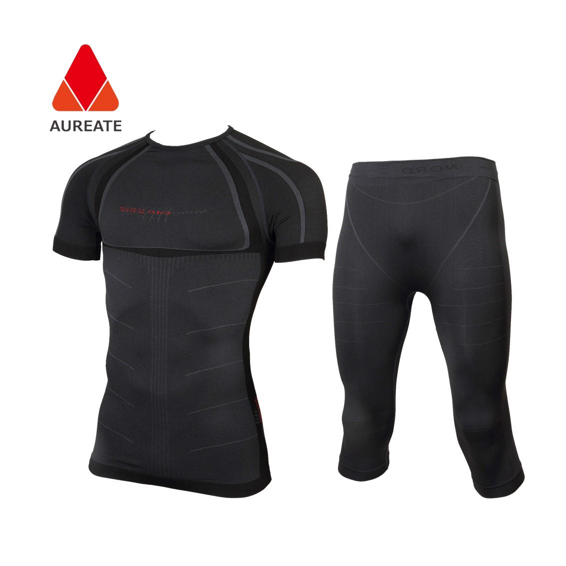 Seamless Thermal underwear long johns long sleeve t shirts orange family tight longsleeve matching men thermal underwear