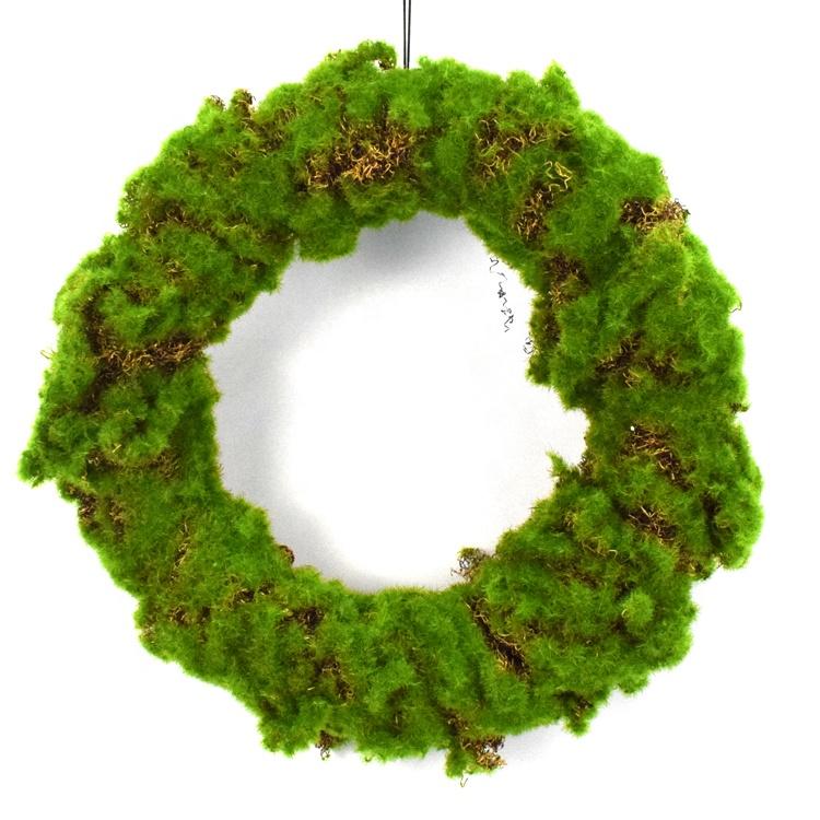 Искусственные круглые зеленые венки, уличные травяные моховые венки для передней двери, стены, окна, дома, декоративные