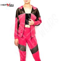 Women's 2 Piece Outfits Jacket Hoodie and Leggings Pants Set Active Wear Sport Gym Running Tracksuit