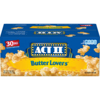 Act II Butter Lovers Popcorn 30 Count Bulk Pack Microwave Pop Corn