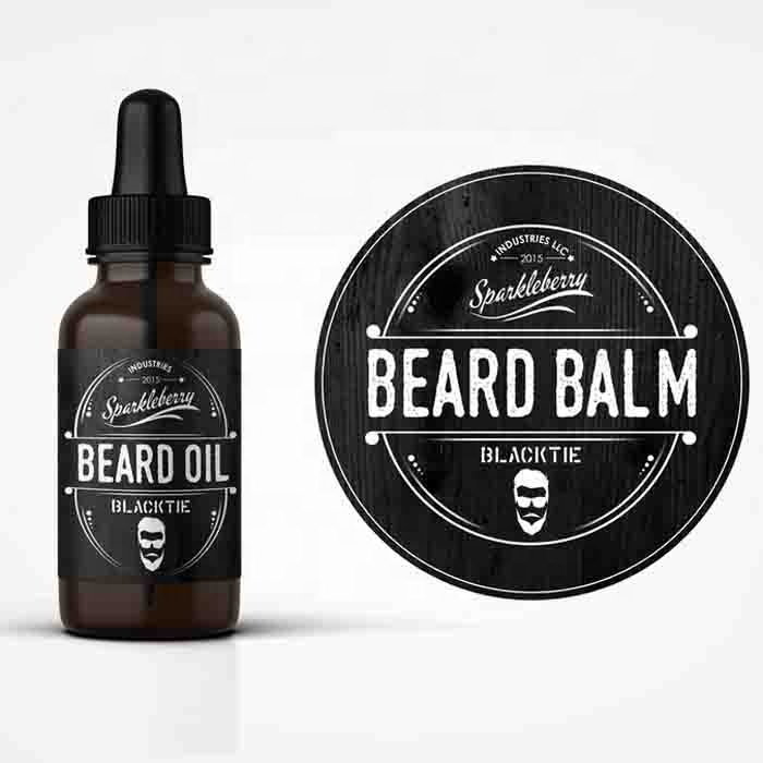 personalise design 30ml bottle adhesive stickers biodegradable beard oil private labels for France market