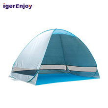Strand Staal Instant Zon Schaduw Tent, Strand Tent Zon <span class=keywords><strong>Onderdak</strong></span> Familie <span class=keywords><strong>Opvouwbare</strong></span> Tent Uv-bescherming