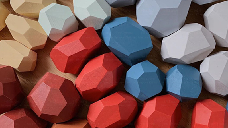 16 قطعة قوس قزح الملونة الأطفال خشبية أحجار بناء كتلة لعبة تعليمية الإبداعية نمط الشمال التراص لعبة هدية