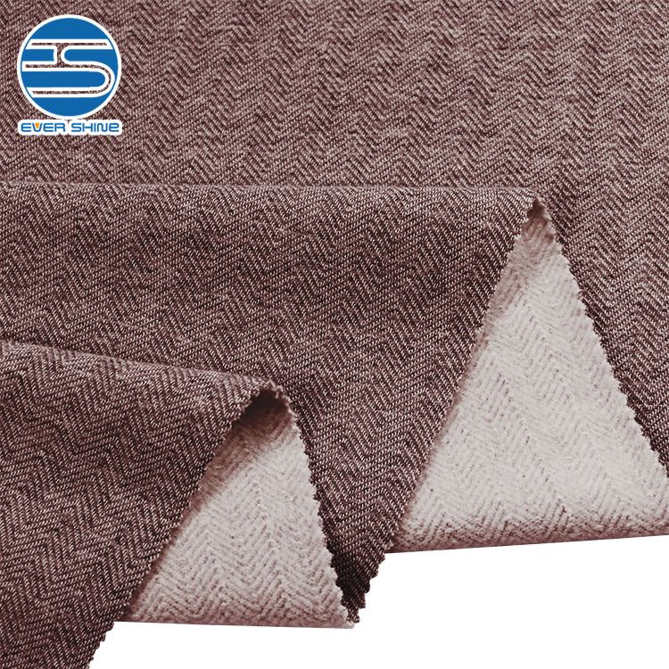 High quality Taiwan kids baby Knitted HERRINGBONE jacket softshell hoodies fleece cotton fabric for garment