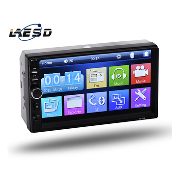 7 Inch Car Stereo MP5 MP4 Player,Radio Bluetooth/AUX IN/Two-Way Video Output Function/Rear View Camera Input Function