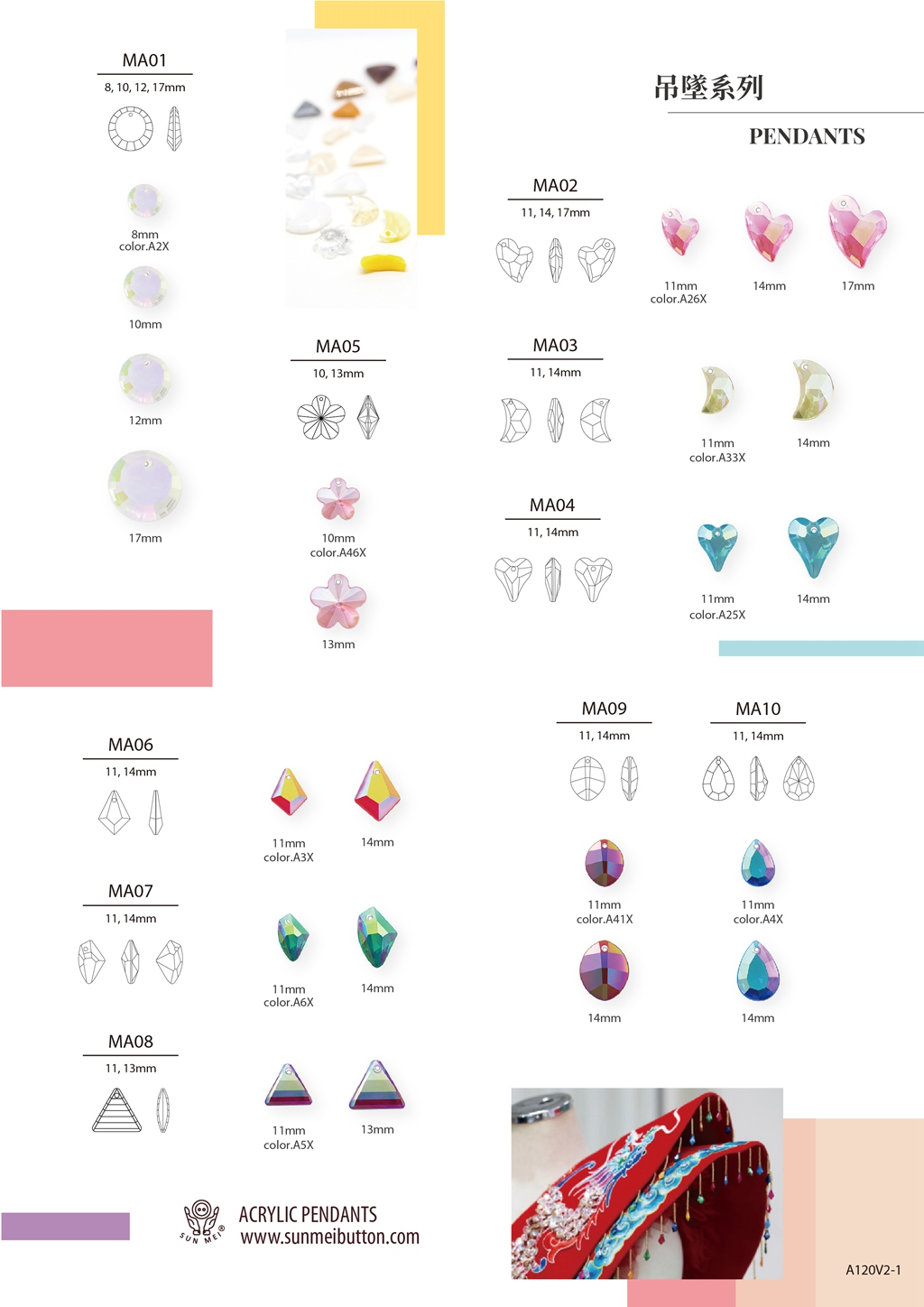 Wholesale Price Low MOQ Shiny AB Colors 11mm 14mm 17mm Love Heart Shaped Pendant Design for Necklace