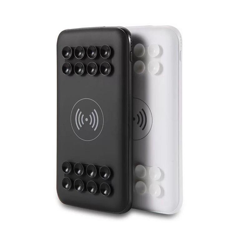 2020 KD-288 Neue 10000mAh Saugnapf Dual USB Ausgang Tragbare Ladegerät Externe Batterie Wireless Charging Power Bank