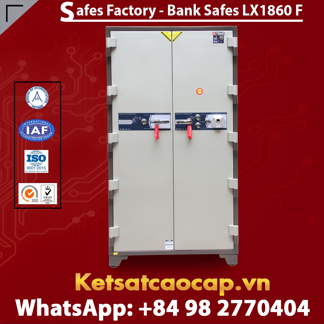 Bank Safes LX 1860 F Two Door Fingerprint Locking Customized Models