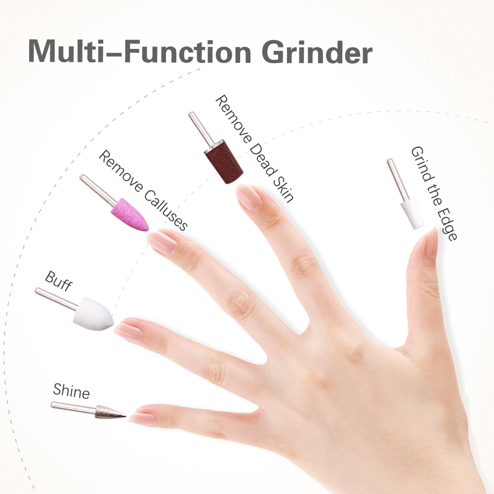 Hot Sale Nail 5 in 1 Electric Manicure Set Rechargeable Manicure Pedicure Set Nail Drill with UV Nail DryerTOUCHBeauty