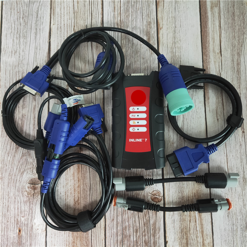 INLINE7 Data Link Adapter with Insite pro v8.3 Data Link Adapter Diesel Truck diagnostic scanner tool