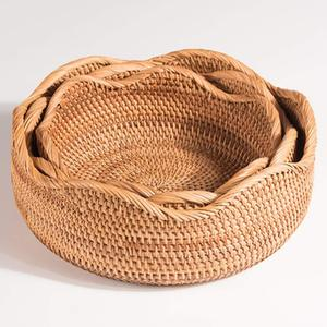 Rattan fruit basket cheap fruit basket for kitchen hot products 2019 high quantity