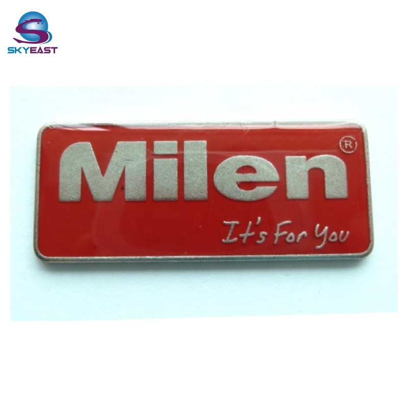 Customized Enamel And Epoxy Color Embossed Metal Logo Plates