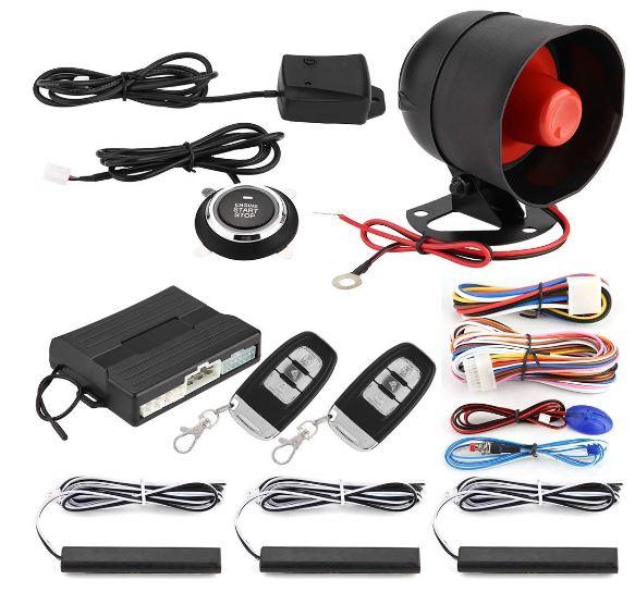 Anti-seqüestro inteligente PKE Entrada Keyless Sistema de Alarme de Carro com Um Toque de Botão de Arranque Do Motor