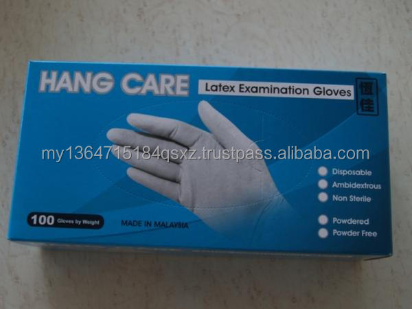 Latex Examination Gloves (Powdered, Semi Powdered, Powdered - free)