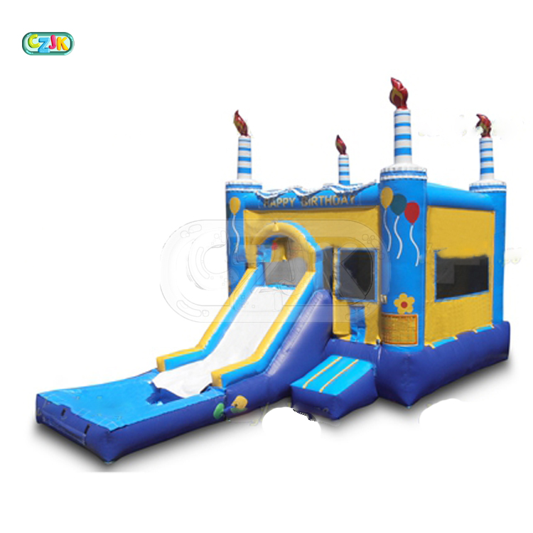 Happy birthday customised inflatable bouncer jumping bouncy castle bounce house