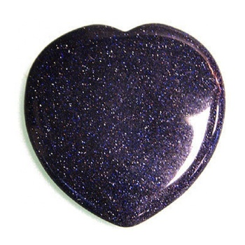 heart stone goldstone  blue Heart palm Stone Carved puffy heart palm and pendant Wholesaler