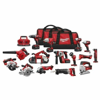 Milwaukee 2695-15 Power Combo Tool Kit (15-Tool) 18-V Lithium-Ion Cordless