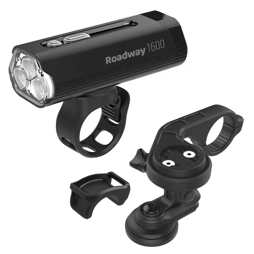 New 2020 Flash Sale USB Rechargeable 1600 Lumen Bike Light Front with smart Bicycle mount