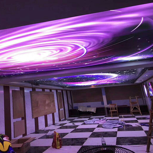 Decorative LED Fiber Optic Star false Ceiling tiles