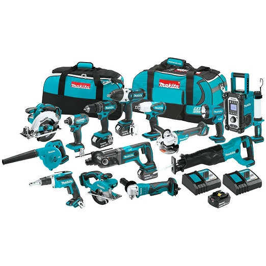 Discounted Offer ! MakitaS LXT1500 18 Volt Lithium Ion Cordless Combo Kit 15 Piece