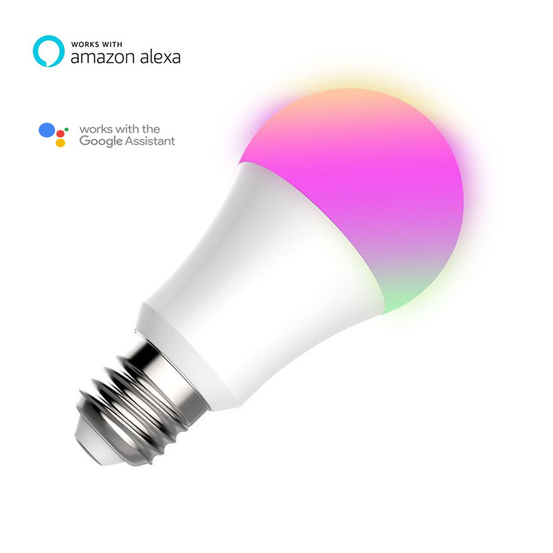 voice activated smart life multicolor light bulb no hub work with amazon alexa and google home
