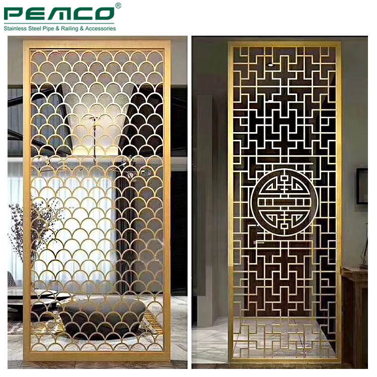 Hotel Corridor Color Railing Pipe Price Stair Mirror Finish <strong>Stainless</strong> Steel Pvd Screen Champagne Golden Tube