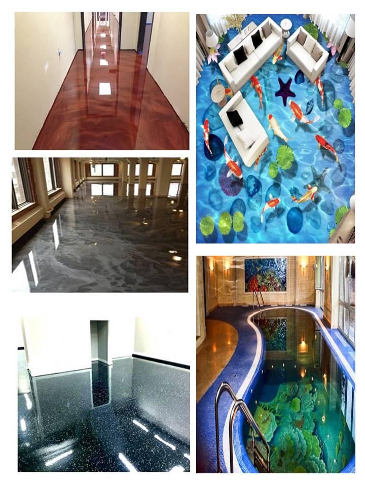 Lihsi Gratis Sample Transparant Floor Epoxyhars