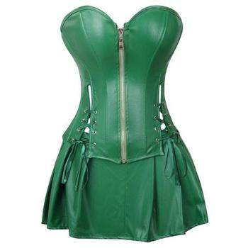 Women's Imitation Leather Openwork Corsets Fashion Sexy Lingerie Dress Corset