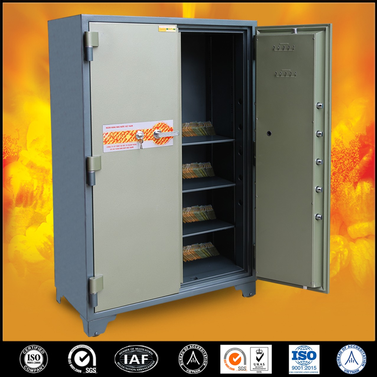 Bank Safes LX1650 DK Two Door Best Quality Security Safes