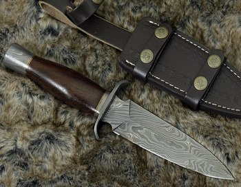 Damascus knife/ Damascus Hunting Knife/Damascus Fixed Blade Knife RJX9988